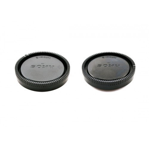 Две защитные крышки - для задника объектива и для тушки Sony NEX E
