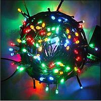 Гирлянда светодиодная на 100 ламп микс (черный провод)