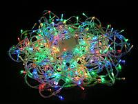 Гирлянда LED светодиодная на 100 ламп микс (прозрачный провод)