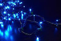 Гирлянда LED светодиодная на 500 ламп микс, синяя (черный провод)
