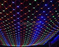 """Гирлянда LED светодиодная """"Сетка"""" на 300 LED микс 3х3 м"""
