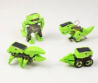 Конструктор: динозавр / бурильная машина / робот / насекомое для детей 4 в 1 на солнечной батарее