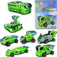 Конструктор: автофургон / амфибия / ракетная установка / экскаватор/гоночная машина/самосвал для детей 7 в 1 н