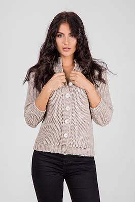 Теплая женская кофта на пуговицах с рукавами 3 4   продажа 6f0ad63d24bfd
