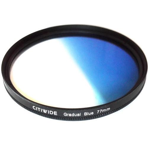 Цветной фильтр 77мм синий градиент