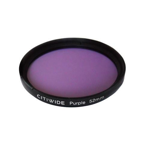 Цветной фильтр 52мм фиолетовый для черно-белой фотографии