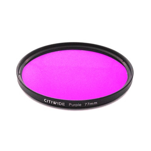 Цветной фильтр 77мм фиолетовый для правильной передачи тонов