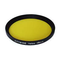 Цветной фильтр 58мм желтый, CITIWIDE