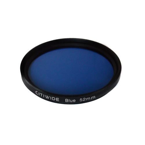 Цветной фильтр 52мм синий для правильной передачи тонов