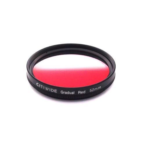 Цветной фильтр 52мм красный градиент