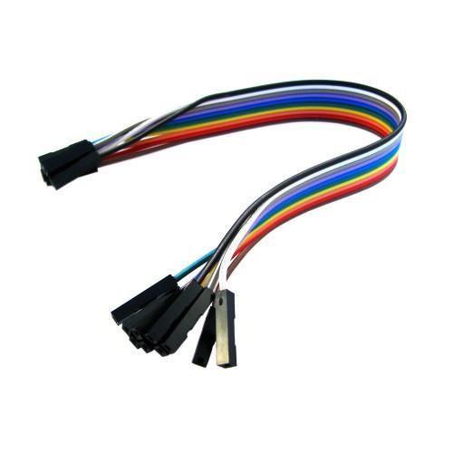 Dupont Дюпон кабель мама-мама 20см для питания проектов (шлейф из 10 проводников)