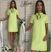 Женское мини платье из прошвы