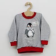 Детский джемпер теплый новогодний «Пингвиненок»