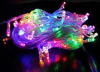 Гирлянда новогодняя 100 светодиодов 10 метров RGB