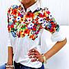 Женская белая рубашка оптом D6516