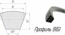 Ремені профіль(Б), (B), 17х11 мм