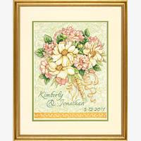 """Набор для вышивания крестом """"Свадебный букет//Wedding Record Bouquet"""" DIMENSIONS"""