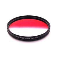 Цветной фильтр 77мм красный градиент, CITIWIDE