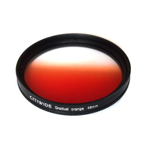 Цветной фильтр 58мм оранжевый градиент