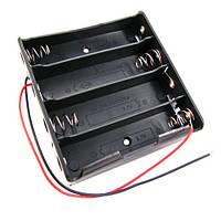 Бокс на 4шт 18650 батареи, 14.8 В, питание Arduino