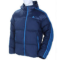 Куртка пуховик спортивная, мужская adidas Iconic 3S Down W54183 адидас