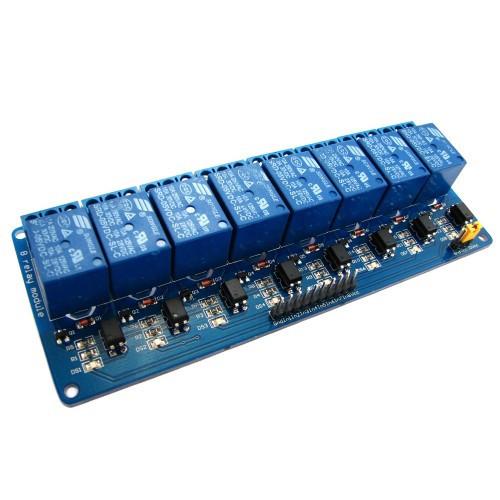 8-канальный модуль реле 5V для микроконтроллера