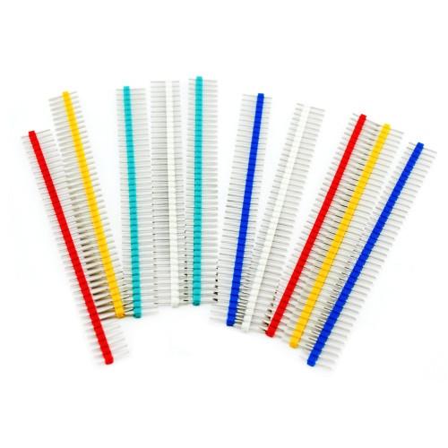 Цветные коннекторы 40pin папа 2.54 шаг Arduino, 10шт.