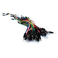 Соединительные провода, джамперы для макетных плат без пайки (65 штук в наборе)