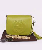 Женская сумка в стиле GUCCI SOHO CHAIN SHOULDER GREEN BAG (3350), фото 1