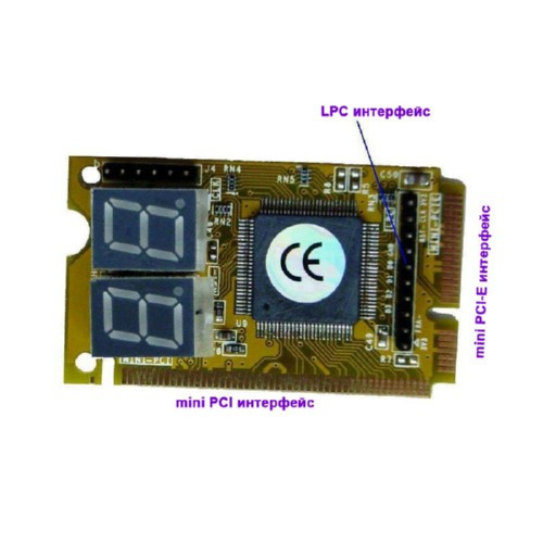 3 в 1 Mini PCI / Mini PCI-E / LPC тестер ноутбука post-карта