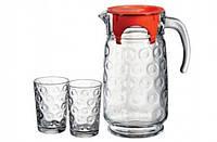 Набор для напитков из кувшина и 6-ти стаканов Rings Pasabahce (98884)