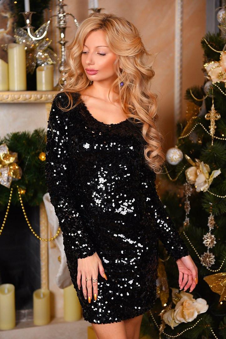 Х8097 Платье коктейльное пайетка