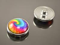 Кнопка Noosa стекло, цветной лабиринт