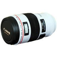 Чашка термос объектив Canon EF 100mm бел, кружка