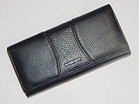Женский кожаный кошелек Bodenfendy черного цвета, фото 1