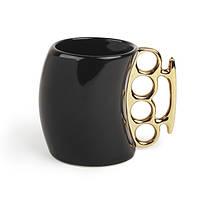 Чашка кастет черная , оригинальные подарки