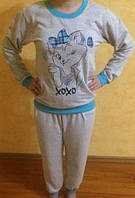 Пижама на байке с длинным рукавом,доставка по Украине