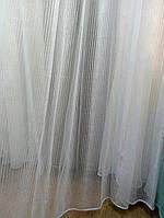 Тюль полосочка белая Пинелла