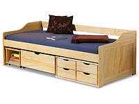 Односпальная кровать детская HALMAR MAXIMA с выдвижными ящиками
