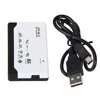Мультиформатный USB кардридер Mini SD / MicroSD / SD / MMC / xD / M2 / MS Duo / CF