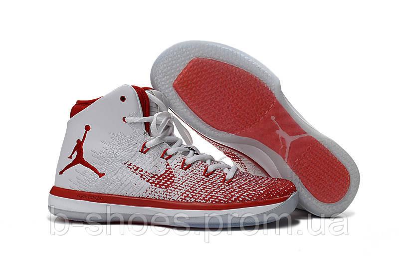 Мужские баскетбольные кроссовки  Air Jordan  31 (White/Red)
