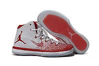 Мужские баскетбольные кроссовки  Air Jordan  31 (White/Red) , фото 1
