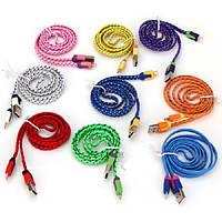 USB дата кабель для Iphone 5 5C 5S 6 plus 6s 7 plus SE Ipod, нейлон