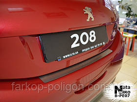 Накладка на задний бампер Peugeot 208 с -2013 г.