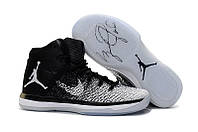 Мужские баскетбольные кроссовки  Air Jordan  31 (Black/White), фото 1