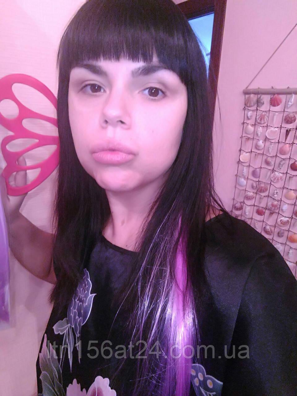 Цветные полоски - пряди для волос