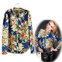 Женская блузка с принтом D5464