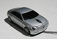 Мышка компьютерная проводная Mercedes Benz CLK серебристая