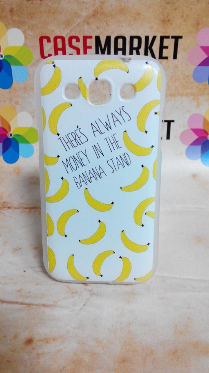 Чехол силиконовый бампер для Samsung i8552/i8550 Galaxy Win с рисунком Бананы