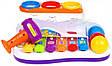 Музична розвиваюча іграшка Ксилофон 9199 з молоточком і трьома різнокольоровими кульками (2 види), фото 3